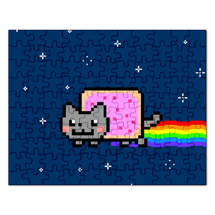 Nyan Cat Rectangular Jigsaw Puzzl