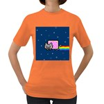 Nyan Cat Women s Dark T-Shirt Front