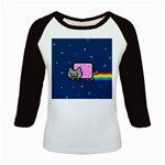 Nyan Cat Kids Baseball Jerseys Front