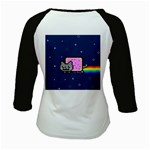Nyan Cat Kids Baseball Jerseys Back