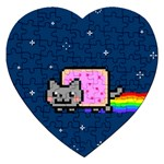 Nyan Cat Jigsaw Puzzle (Heart) Front
