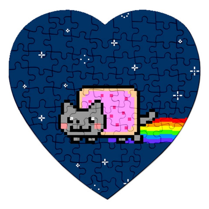 Nyan Cat Jigsaw Puzzle (Heart)