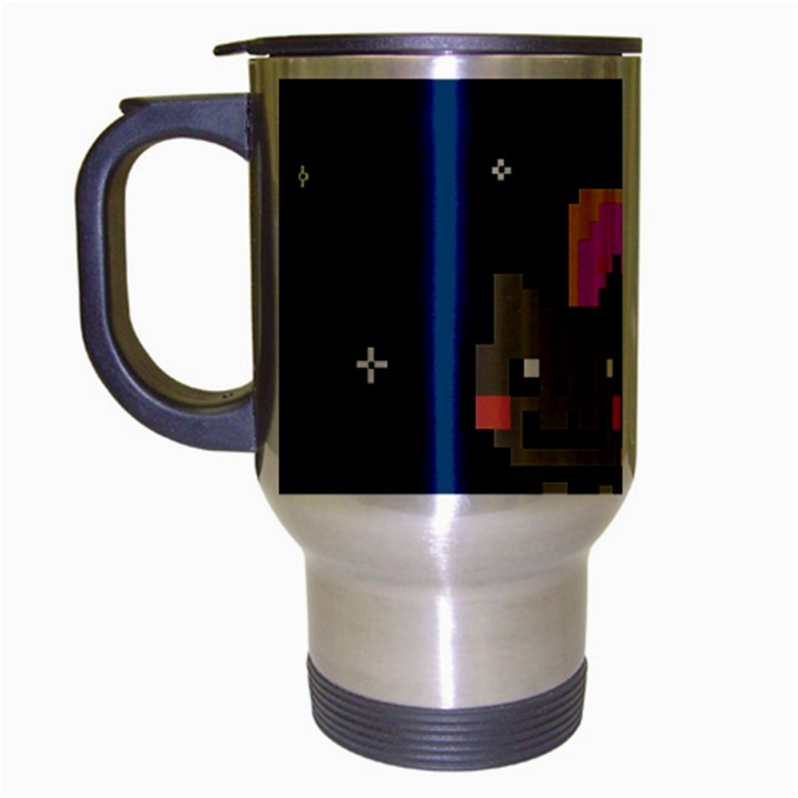 Nyan Cat Travel Mug (Silver Gray)
