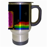 Nyan Cat Travel Mug (Silver Gray) Right