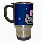 Nyan Cat Travel Mugs (White) Left