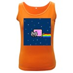 Nyan Cat Women s Dark Tank Top Front