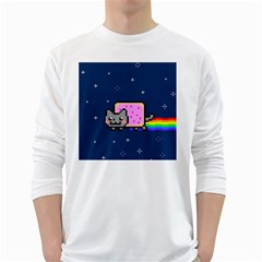 Nyan Cat White Long Sleeve T-Shirts