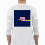Nyan Cat White Long Sleeve T-Shirts Back