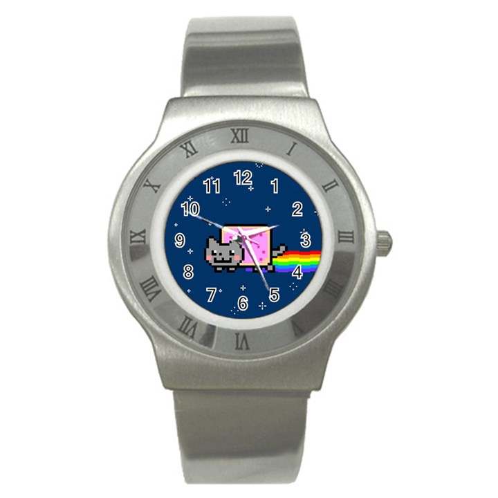 Nyan Cat Stainless Steel Watch
