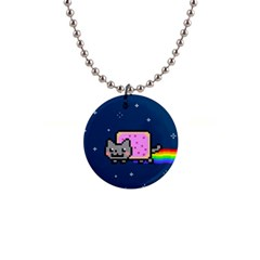 Nyan Cat Button Necklaces
