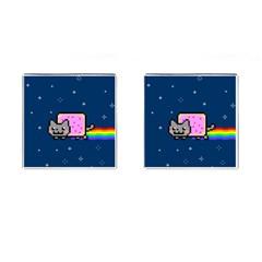 Nyan Cat Cufflinks (Square)