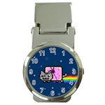 Nyan Cat Money Clip Watches Front
