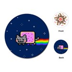 Nyan Cat Playing Cards (Round)  Front