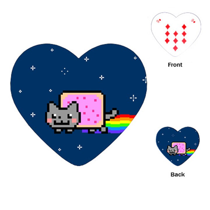 Nyan Cat Playing Cards (Heart)