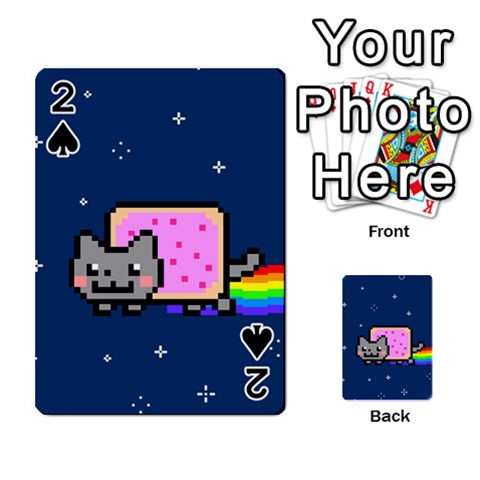 Nyan Cat Playing Cards 54 Designs