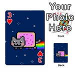 Nyan Cat Playing Cards 54 Designs  Front - Heart3