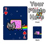 Nyan Cat Playing Cards 54 Designs  Front - Heart7
