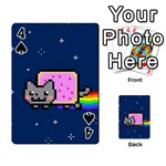 Nyan Cat Playing Cards 54 Designs  Front - Spade4
