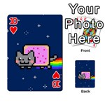 Nyan Cat Playing Cards 54 Designs  Front - Heart10