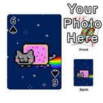 Nyan Cat Playing Cards 54 Designs  Front - Spade6