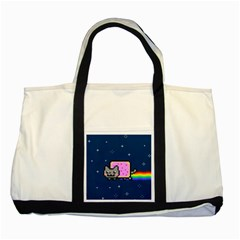 Nyan Cat Two Tone Tote Bag