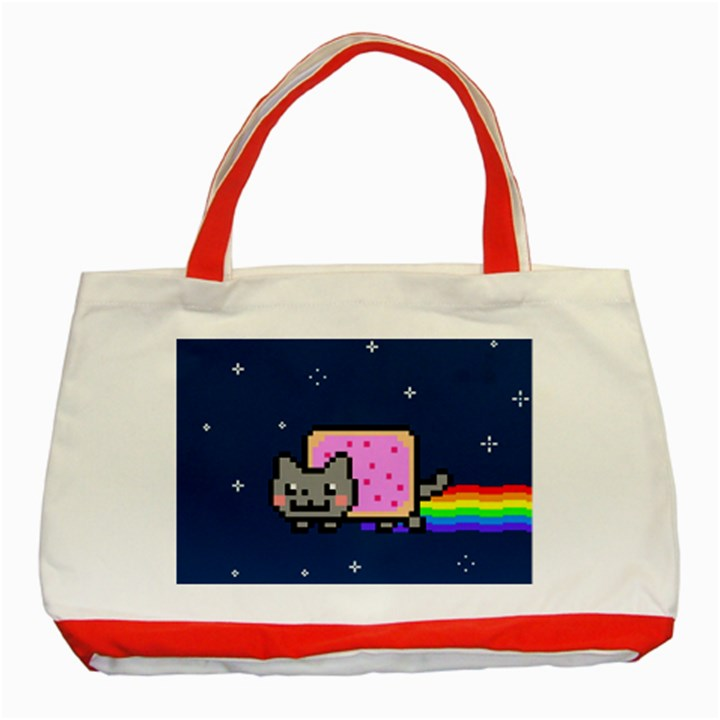 Nyan Cat Classic Tote Bag (Red)