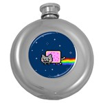 Nyan Cat Round Hip Flask (5 oz) Front