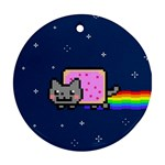 Nyan Cat Round Ornament (Two Sides)  Back