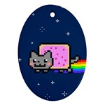 Nyan Cat Oval Ornament (Two Sides) Back