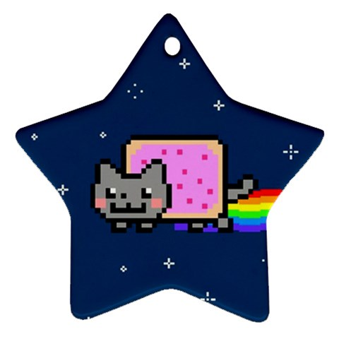 Nyan Cat Star Ornament (Two Sides)