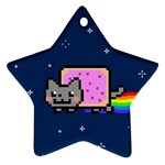 Nyan Cat Star Ornament (Two Sides)  Back