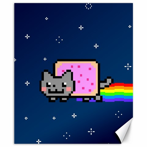 Nyan Cat Canvas 8  x 10
