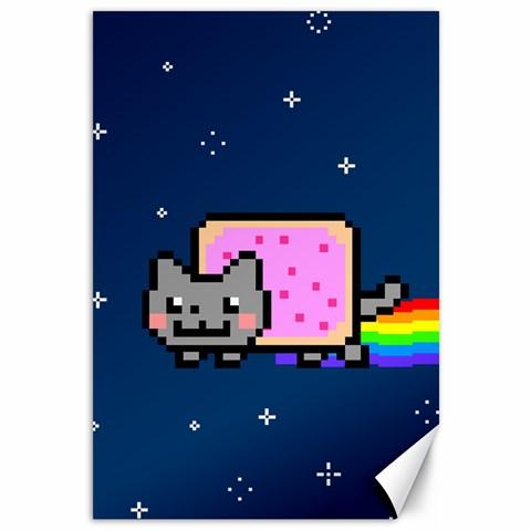 Nyan Cat Canvas 12  x 18
