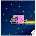 Nyan Cat Canvas 16  x 16   16 x16 Canvas - 1