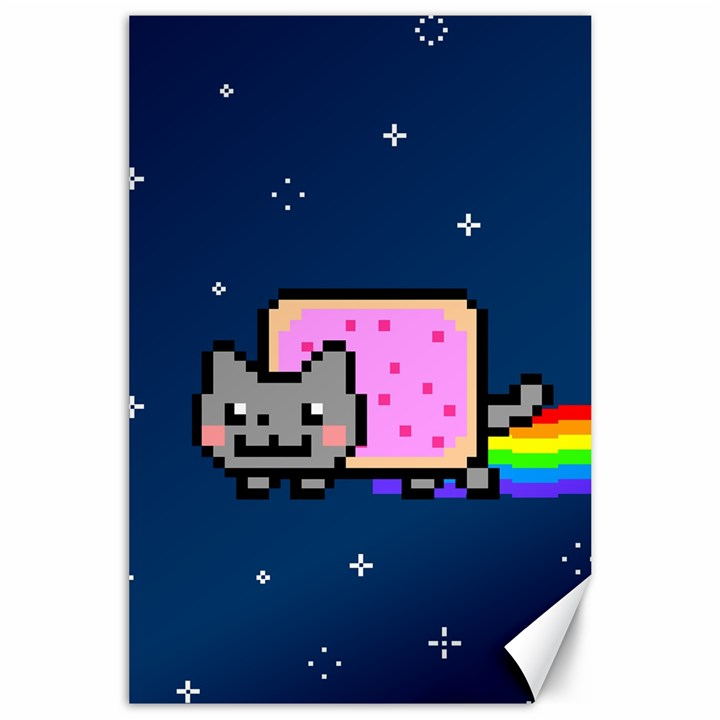 Nyan Cat Canvas 24  x 36