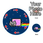 Nyan Cat Playing Cards 54 (Round)  Front - Heart7