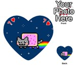 Nyan Cat Playing Cards 54 (Heart)  Front - Heart7