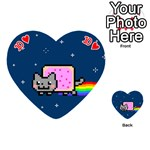 Nyan Cat Playing Cards 54 (Heart)  Front - Heart10