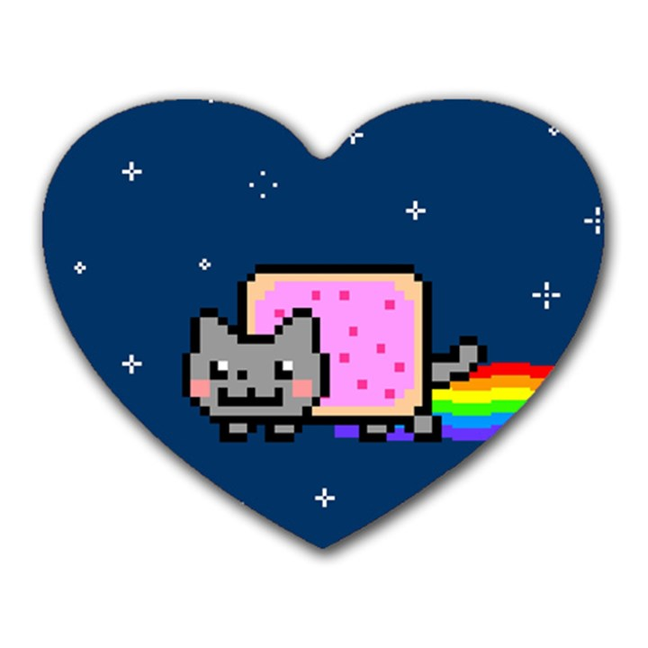 Nyan Cat Heart Mousepads