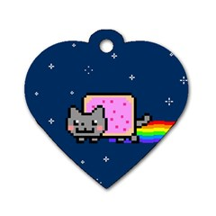 Nyan Cat Dog Tag Heart (One Side)