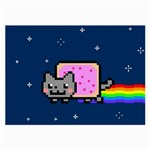 Nyan Cat Large Glasses Cloth (2-Side) Front