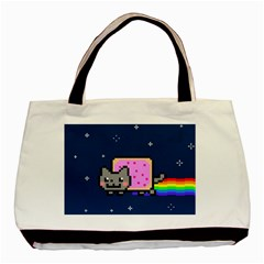 Nyan Cat Basic Tote Bag (two Sides)
