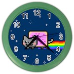 Nyan Cat Color Wall Clocks Front