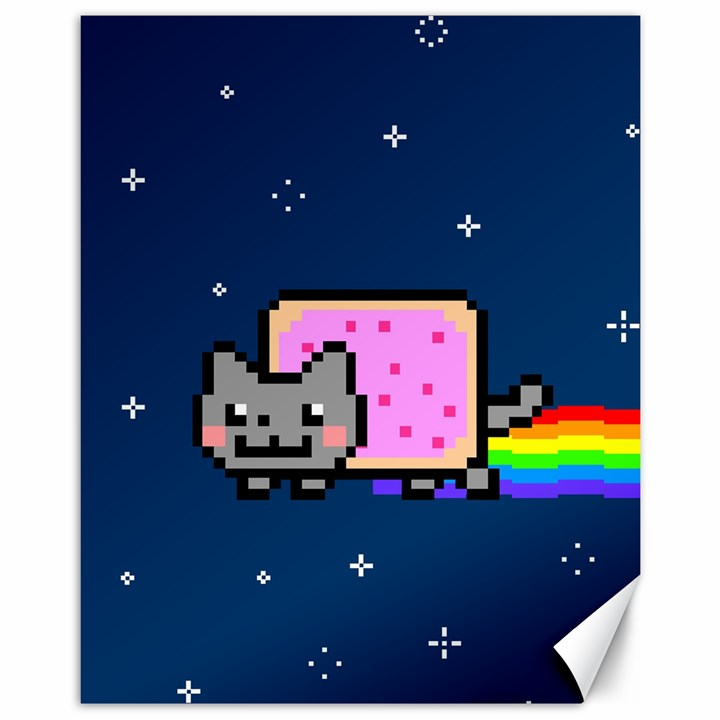 Nyan Cat Canvas 11  x 14