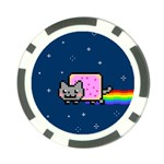 Nyan Cat Poker Chip Card Guards Back