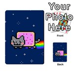 Nyan Cat Multi-purpose Cards (Rectangle)  Back 40
