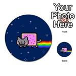 Nyan Cat Multi-purpose Cards (Round)  Back 25