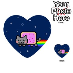 Nyan Cat Multi Purpose Cards (heart)