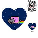 Nyan Cat Multi-purpose Cards (Heart)  Front 12