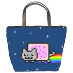 Nyan Cat Bucket Bags Back